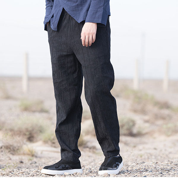 Loose Linen Comfortable Plus Size Men Pants