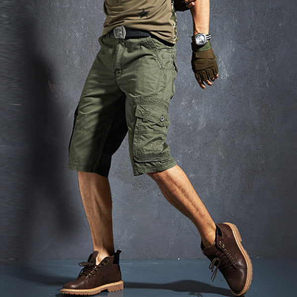 Summer Casual Solid Color Middle Men's Shorts