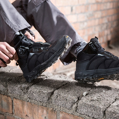 Tactical Automatic Buckle Shoelace Quick Reaction Boots