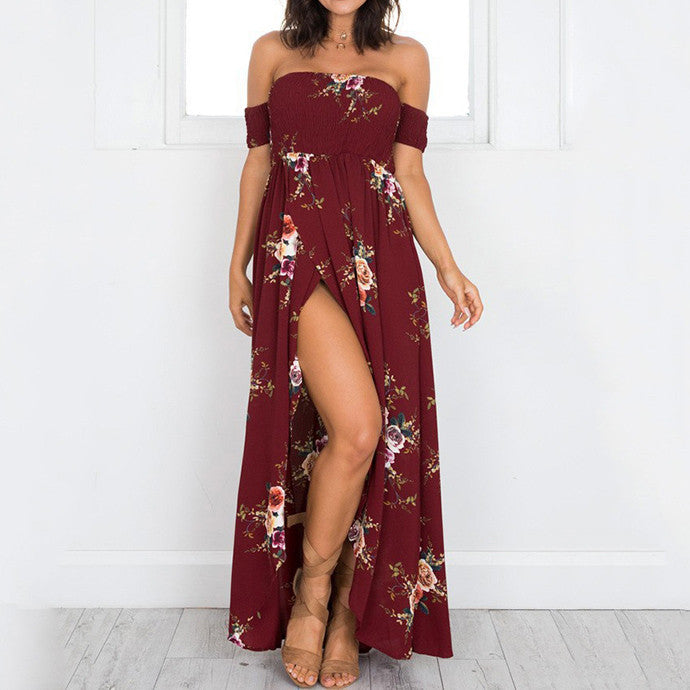 Fashion Flowers Printed Boho Maxi Dress(3 Colors) - KINGEOUS