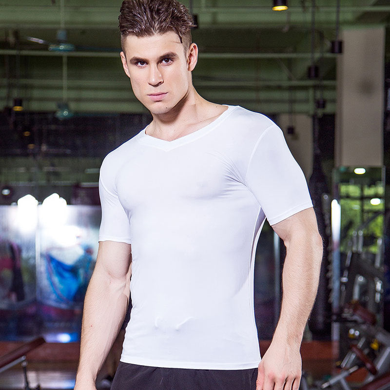 Sport V-neck Fitness Men's Sportswear T-shirt