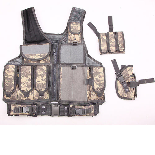 Multi-pocket CS Camo Multi-function Tactical Vest