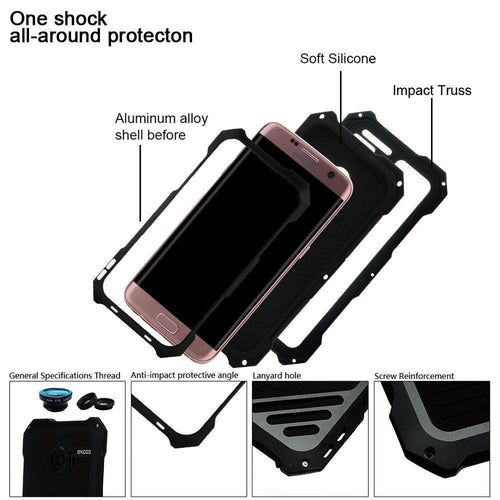 All Around Protection Phone Case for SAMSUNG Galaxy S8 And S8+ With External Camera - KINGEOUS