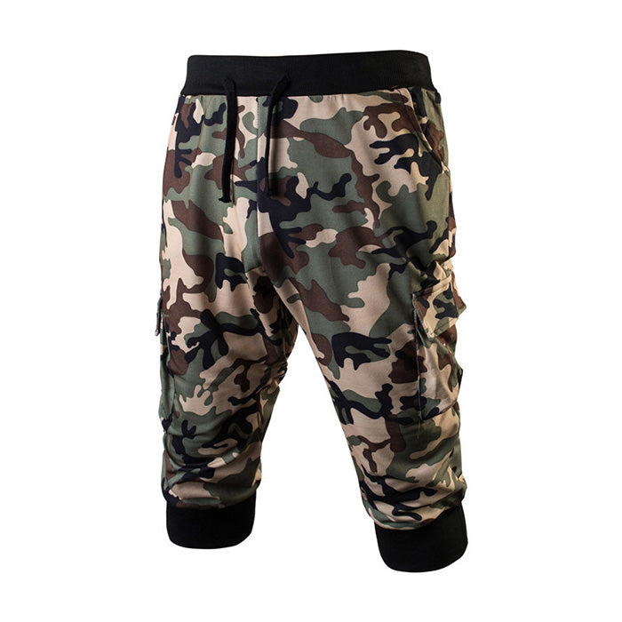 Fashion Camo Sport Casual Men's Shorts - KINGEOUS