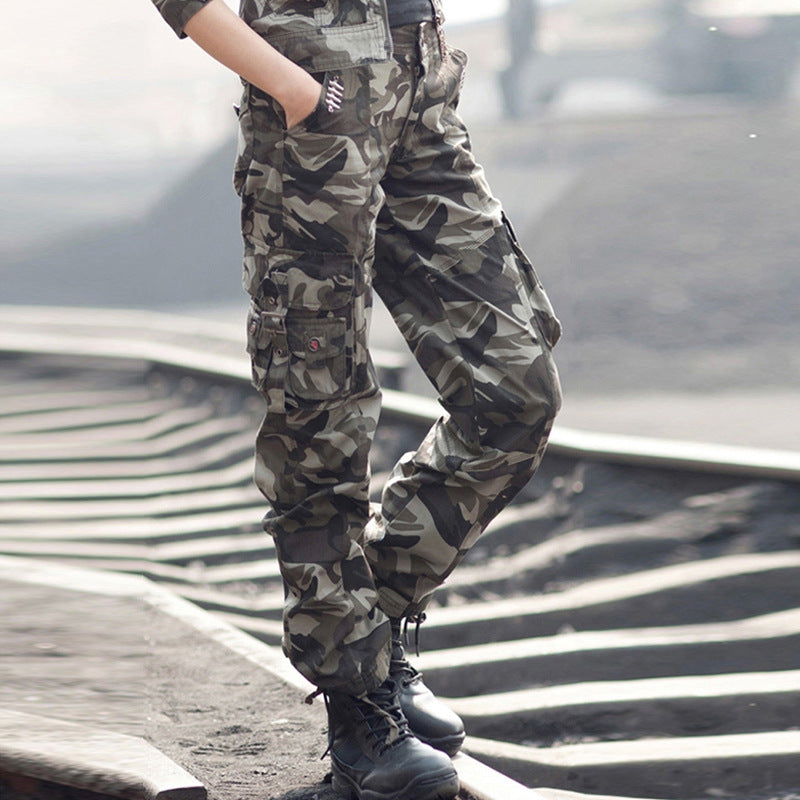 Military Style Slim Outdoor Women's Cargo Pants