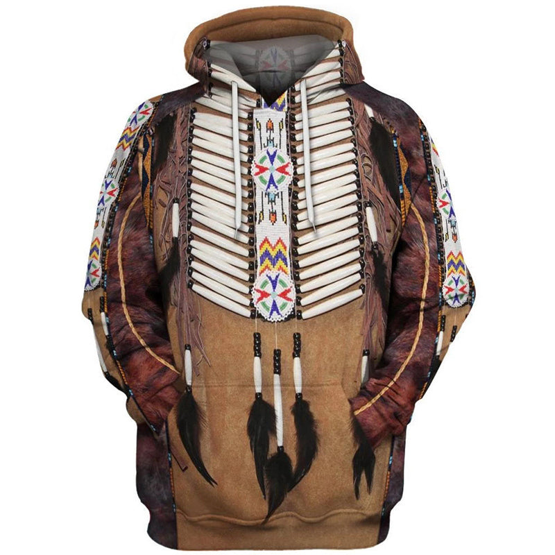 3D Digital Printed Traditional Indians Hooded Couple Hoodie