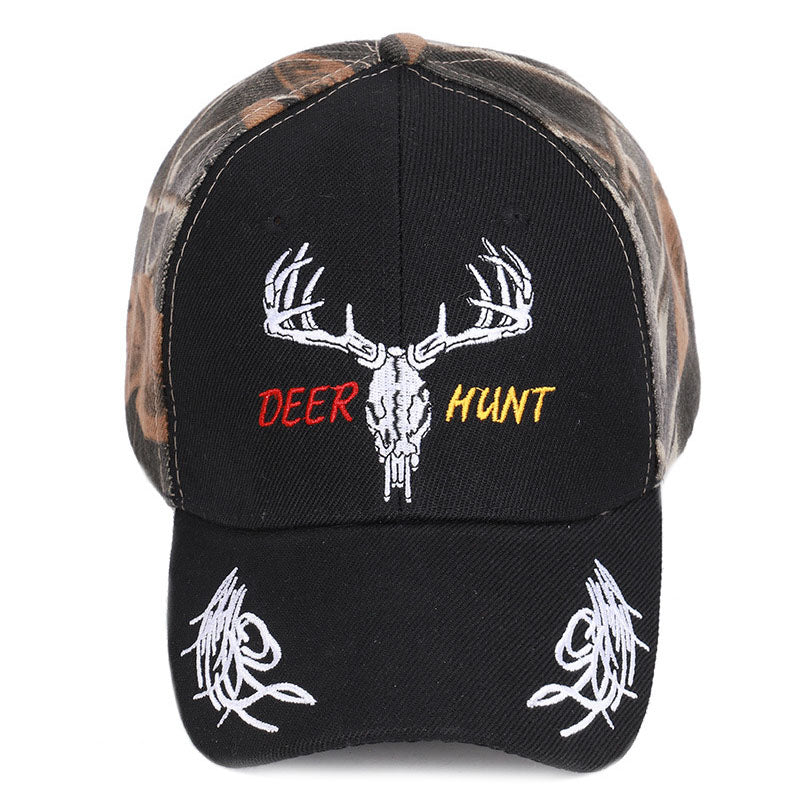 Outdoor Daily Embroidery Deer for Men Women Hat
