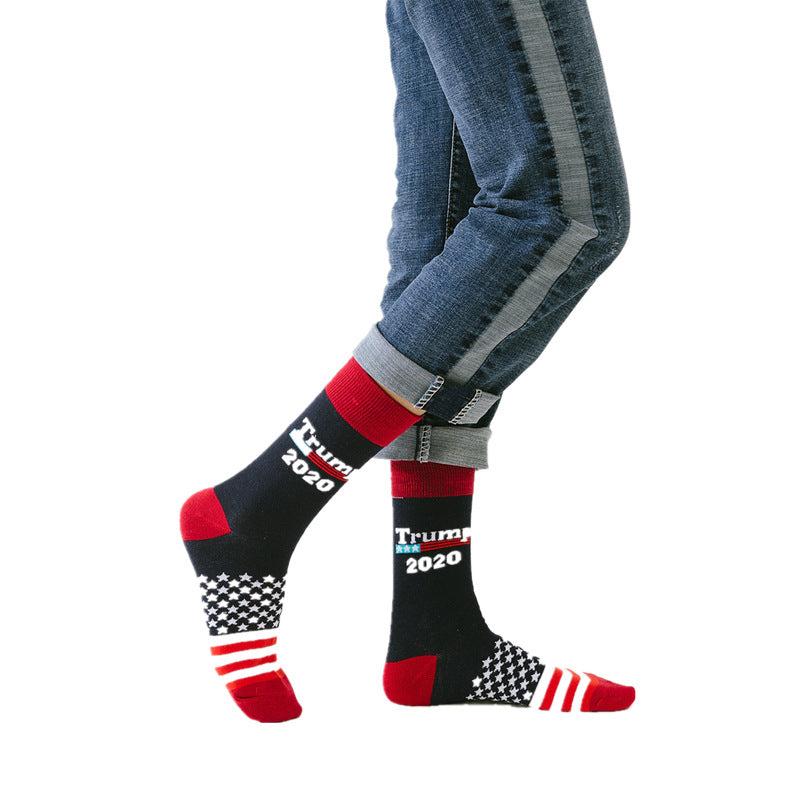 Breathable 2020 Star and Stripe Men's Sock