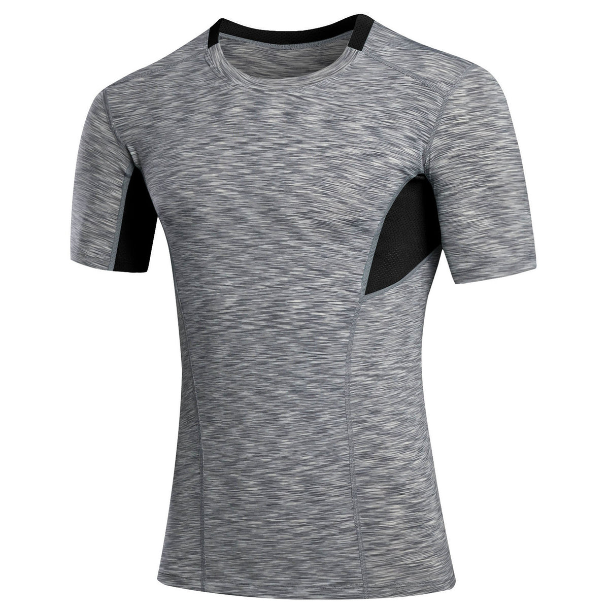 Split Joint Round Neck Men's Sportswear T-shirt