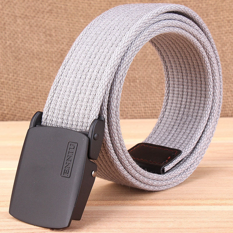 Add Thicken Weave Canvas Cargo Men Belt - KINGEOUS