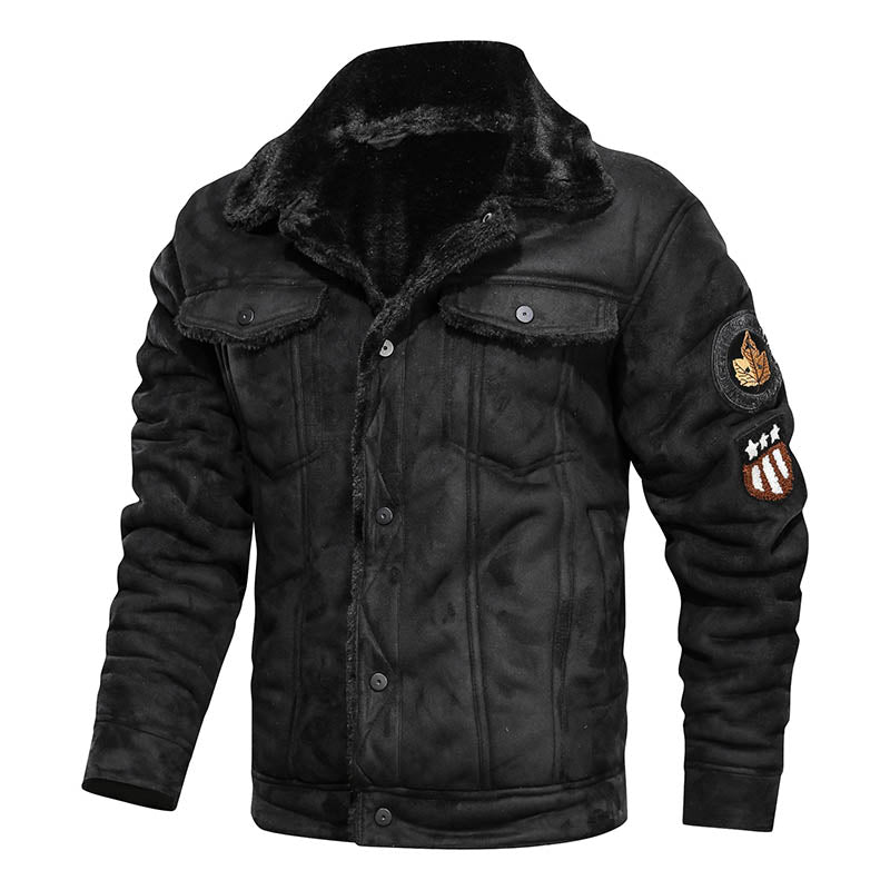 Casual Loose Retro Warm Lapel Men's Jacket
