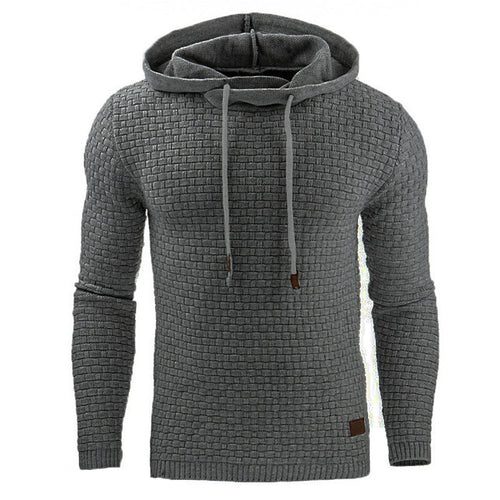 Leisure Hooded Snowflake Fabric Long Sleeve Men's Hoodie