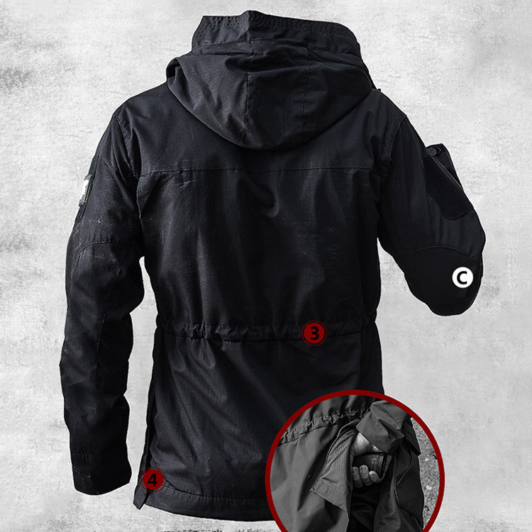 Outdoor Tactical Hooded Waterproof Men's Overcoat