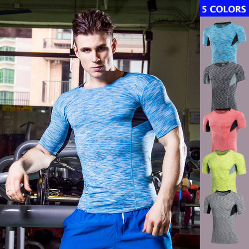 Elastic Slim Fitness Men's Sportswear T-shirt