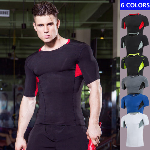 Elastic Breathable Men's Sportswear T-shirt