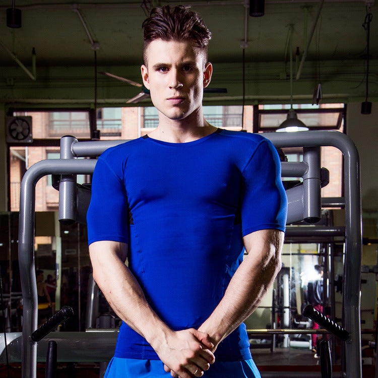 Elastic Breathable Men's Sportswear T-shirt - KINGEOUS