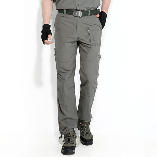 Casual Gray Waterproof Quick-drying Sports Men's Pants - KINGEOUS