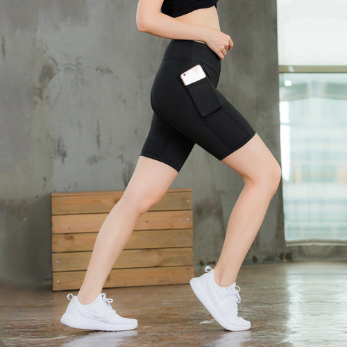 Elastic Running Fitness Women Sportswear Shorts - KINGEOUS