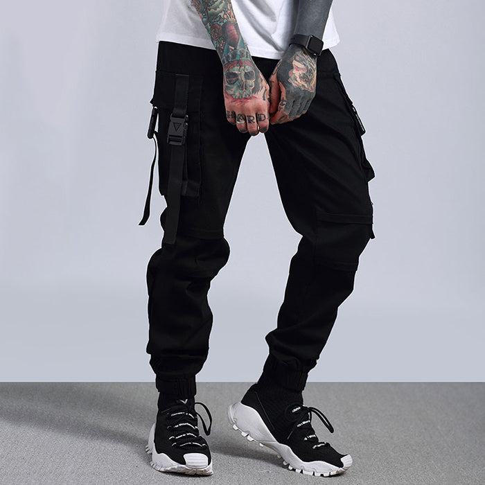 Military Camo Loose Ankle-Tied  Men's Cargo Pants