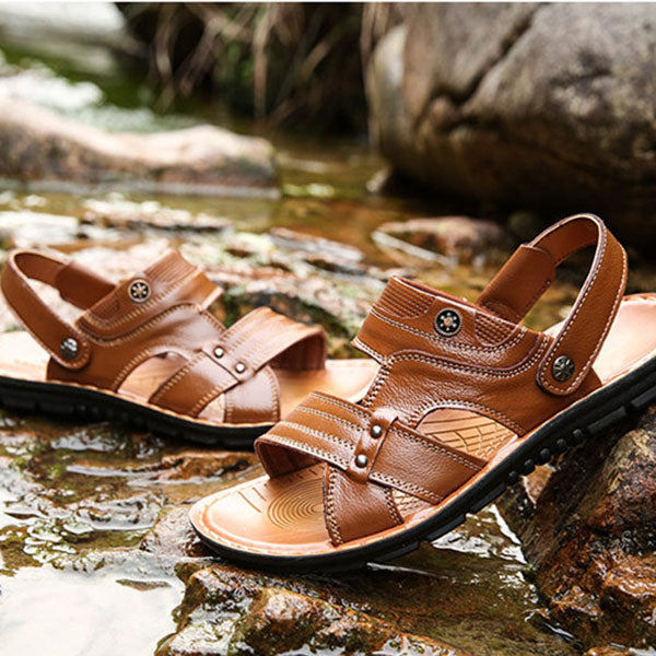 Fashion Leisure Cool Leather Men's Sandals