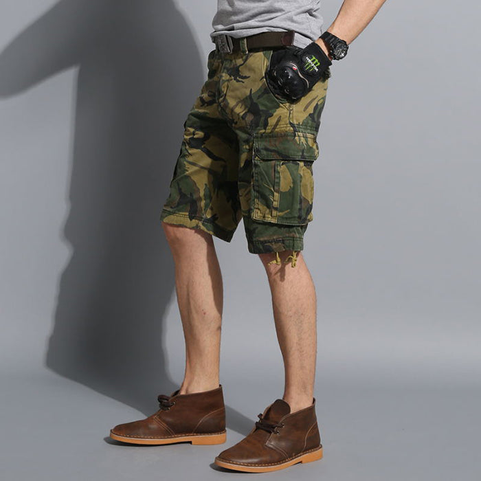 High Quality Military Style Camo Multi-pocket Men's Shorts