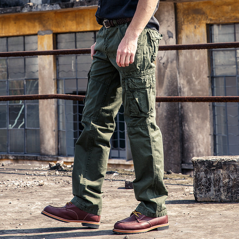 Popular Solid Color Cotton Men's Cargo Pants