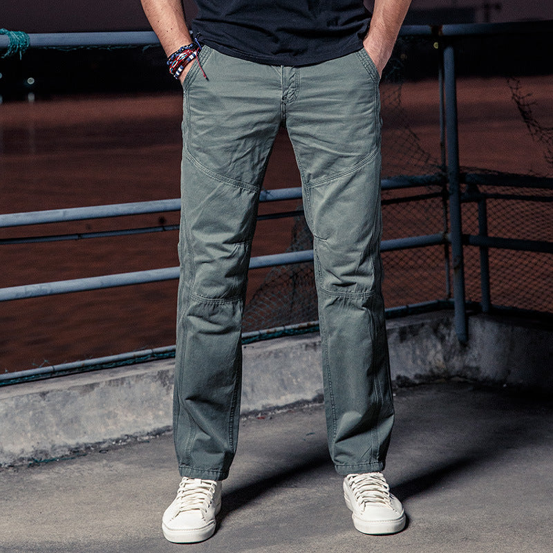 Cotton Casual High Quality Men's Cargo Pants - KINGEOUS