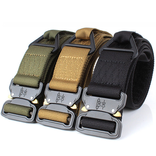 Casual Canvas Double Buckle Woven Belt