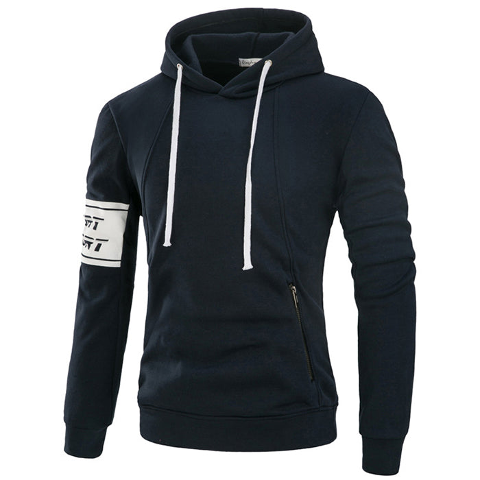 Fashion All Matching Solid Color Men's Hoodie - KINGEOUS