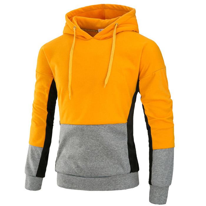Fashion Hooded Contrast Color Young Men's Hoodie - KINGEOUS