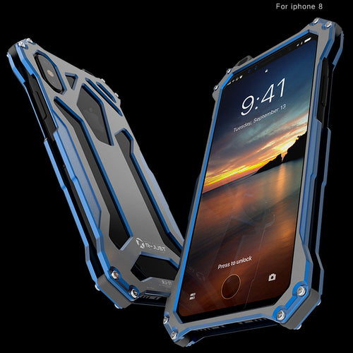 Iphone 8 Aviation Aluminium Materials Three Layers Phone Case