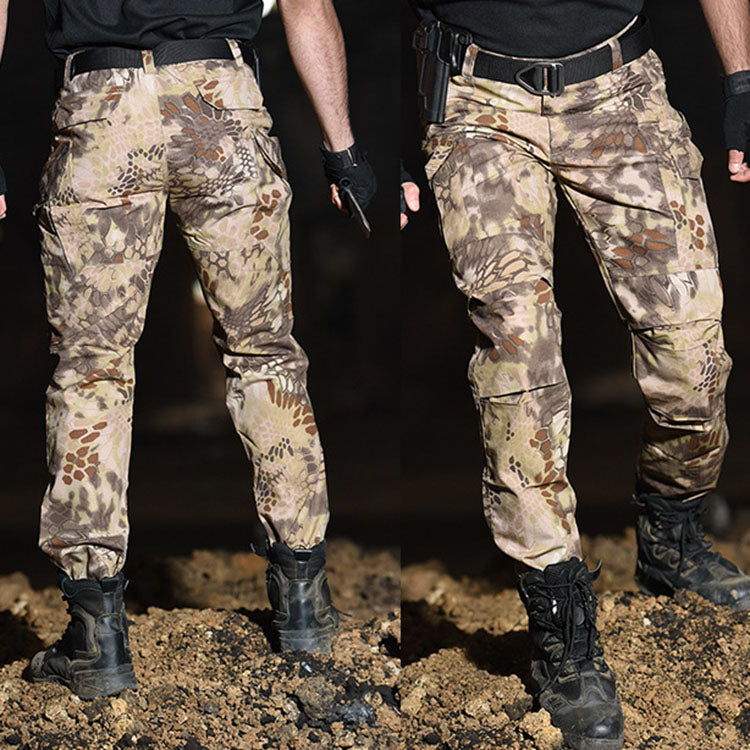 Outdoor Wear-resistant Python Pattern Tactical Men's Pants