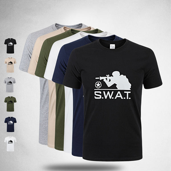 Outdoor Cotton Round Neck Tactical T-Shirt