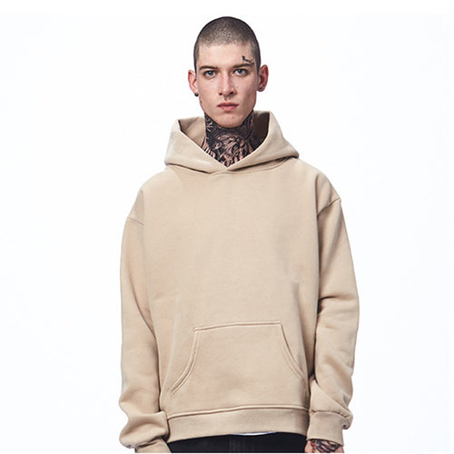 Drop Shoulder Design Oversize Hooded Men's Hoodie