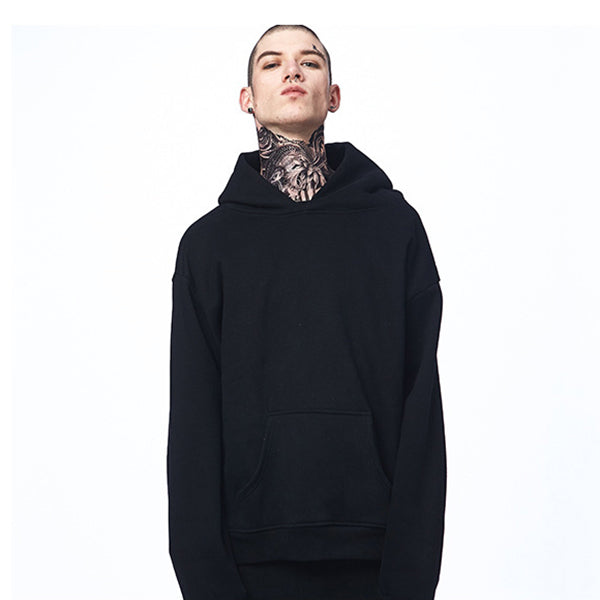 Drop Shoulder Design Oversize Hooded Men's Hoodie - KINGEOUS