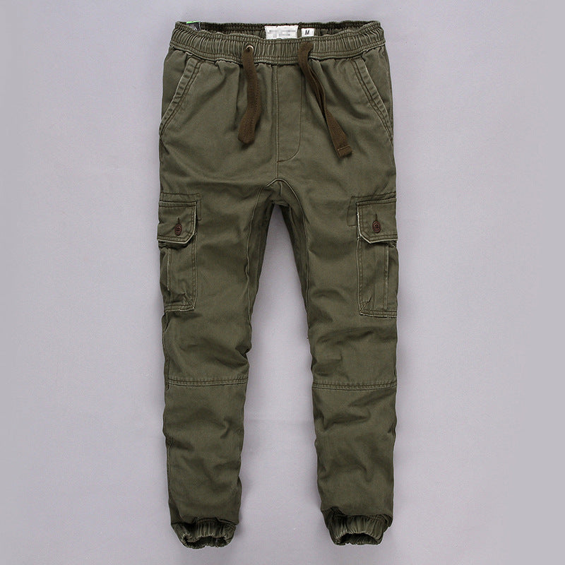Outdoor Army Fan Sports Solid Cotton Men's Pants