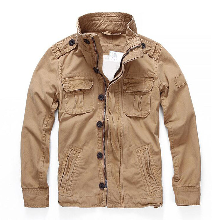 Casual Camouflage Military Pocket Cotton Men Jacket