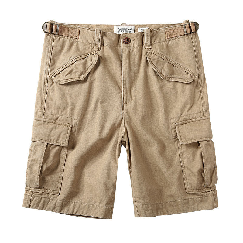 Casual Cotton Elastic Camouflage Men's Cargo Shorts