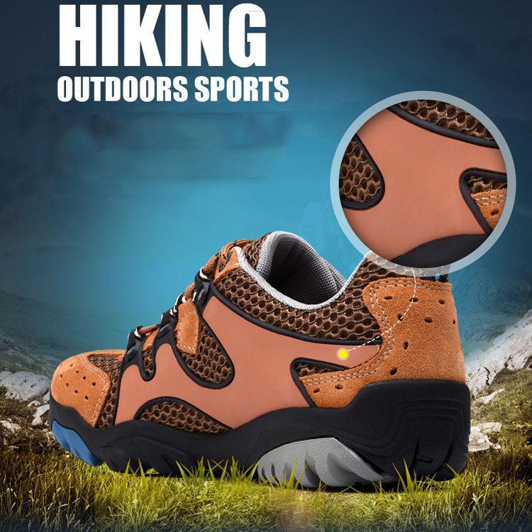 Summer Breathable Lightweight Non-slip Hiking Men's Shoes