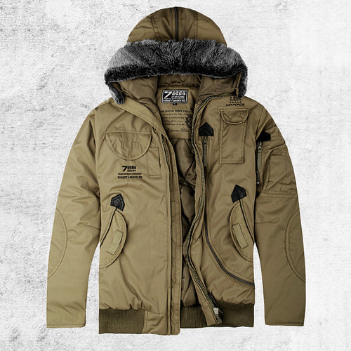 Hooded Flight Thicken Warm Men's Jacket