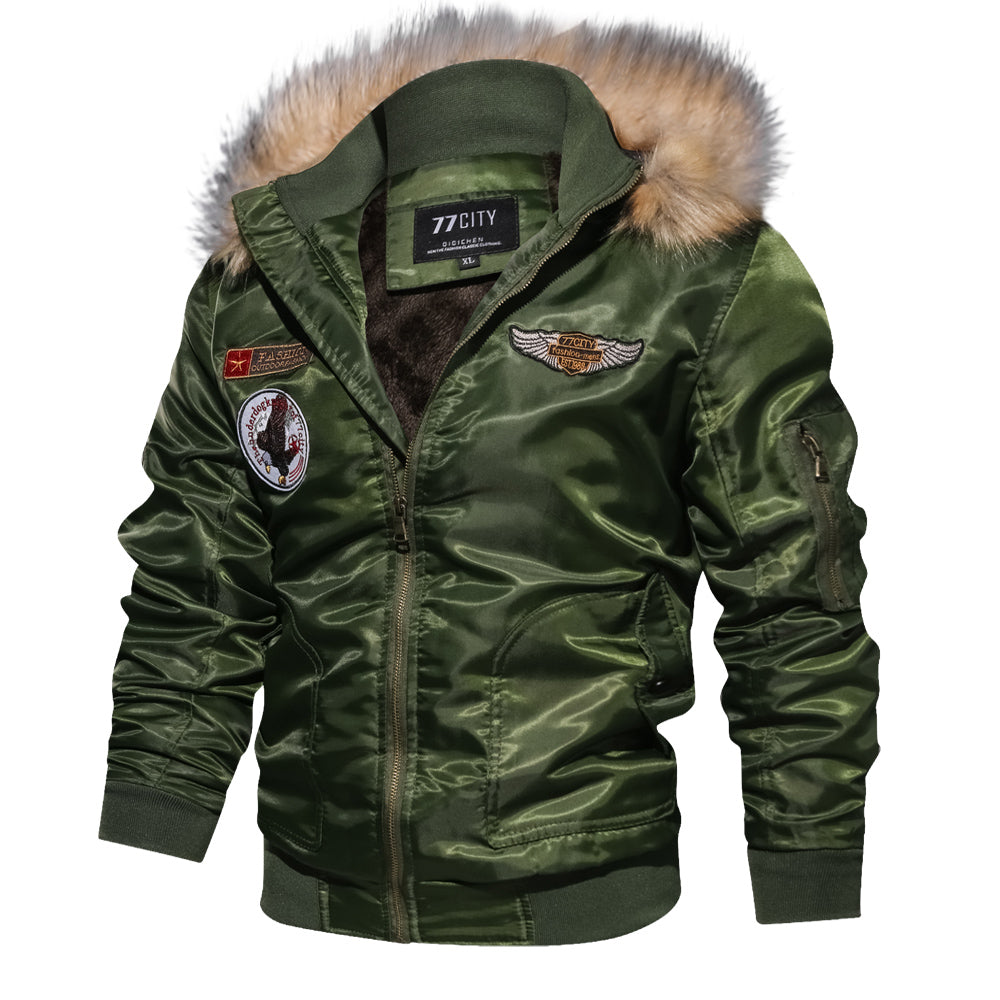 Winter Thicken Military Air Force Flight Men Jacket