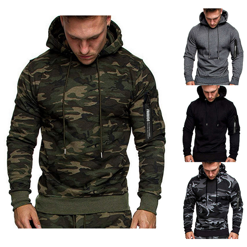 New Men's Casual Long Sleeve Pullover Hoodie