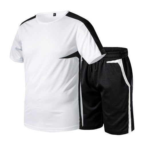 Split Joint Sports Basketball Training Top and Shorts Men's Suit