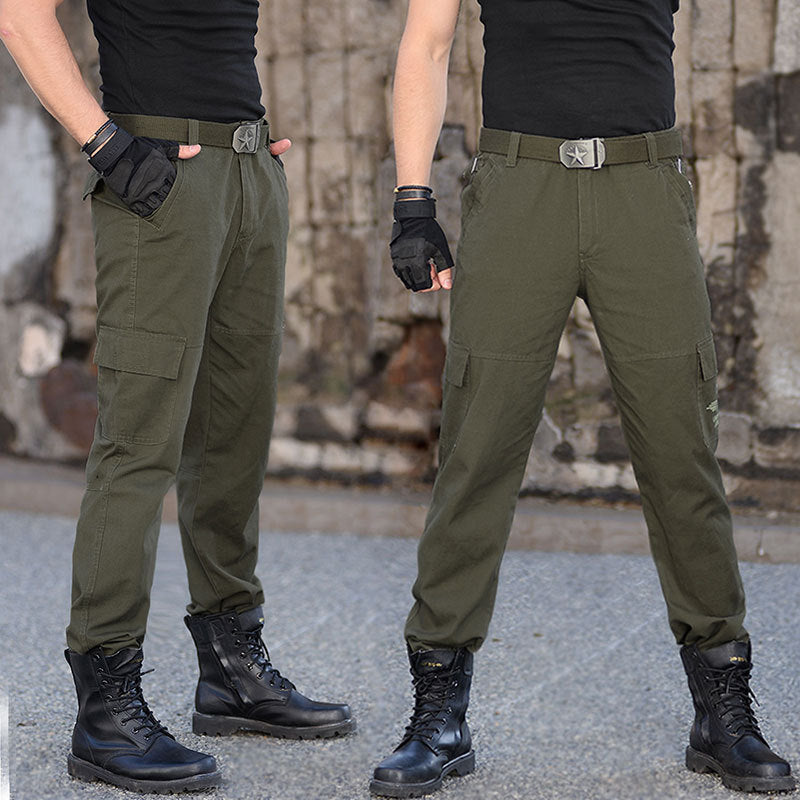 Outdoor Military Camo Pure Cotton Washed Loose Men's Pants