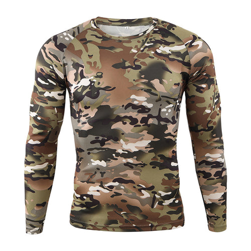 Quick-drying Sport Riding Tight Camouflage Printed Men's T-shirts
