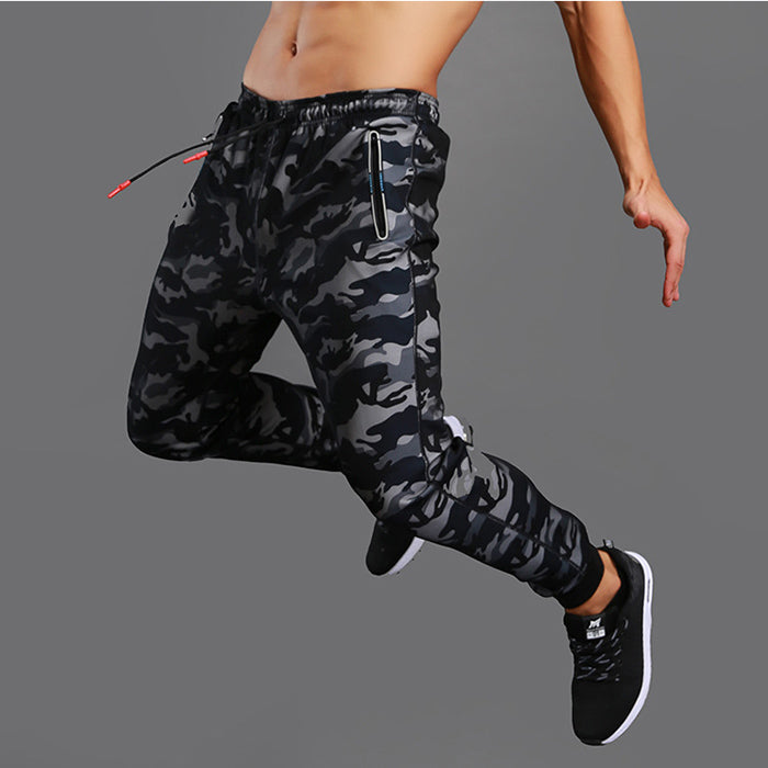 2018 New High Quality Jogger Gyms Camo Men's Pants - KINGEOUS