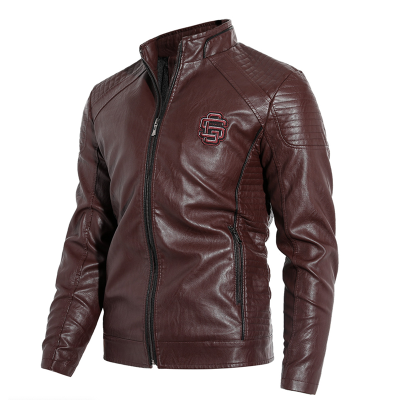 Leather Bomber Jacket Baseball Jackets For Men Autumn Winter Styles
