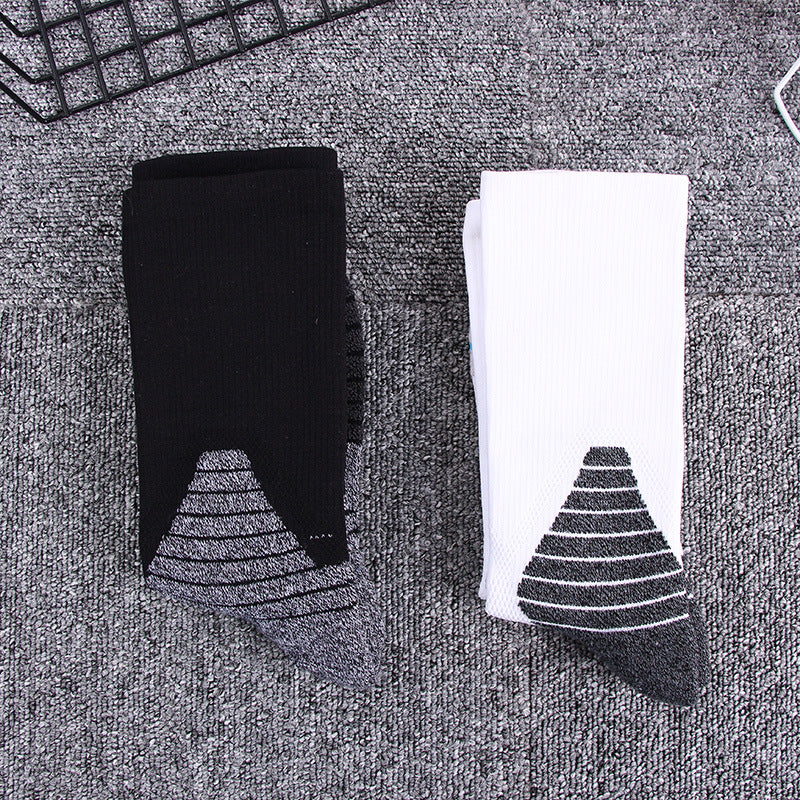 Black White Classic Any Terry and Line Sports Socks - KINGEOUS