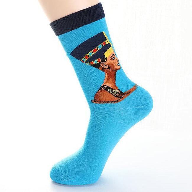 Cotton Socks Oil Painting Funny Happy Socks Women Men Socken