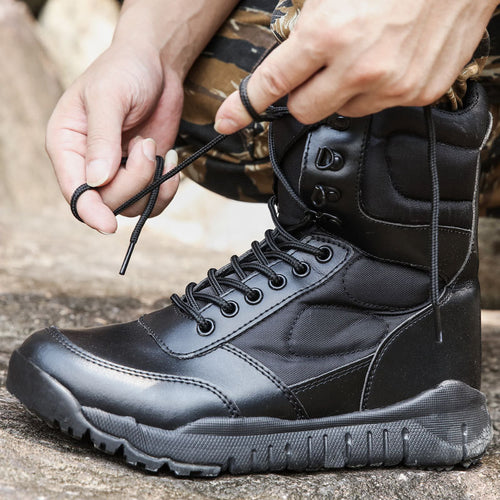 Outdoor Lightweight Shock Absorption High-top Men's Boots